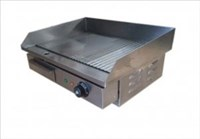 55CM COMMERCIAL ELECTRIC STEEL GRIDDLE COUNTERTOP LARGE FLAT HOTPLATE RIBBED