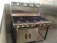 Commercial Cooker with 6 Burners and Oven