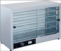 Stainless steel food warmer display