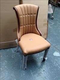 DARK BEIGE TAN COLOURED CHAIR