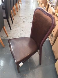 Brown Restaurant Banqueting Chair