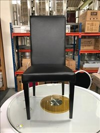 Black Leather Chairs With Metal Legs