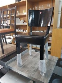 BLACK WOOD HIGH QUALITY CHAIR NEW RESTAURANT DINING