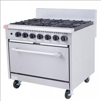 GR6N Nat Gas 6 Burner Gas Range