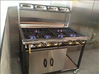 CUSTOM 6 Burners Cooker with Oven