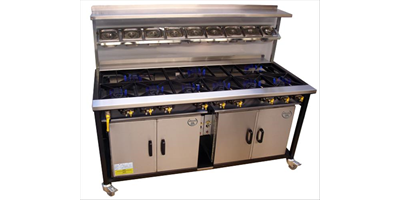 INDIAN 9 BURNER COOKER WITH 2 OVEN